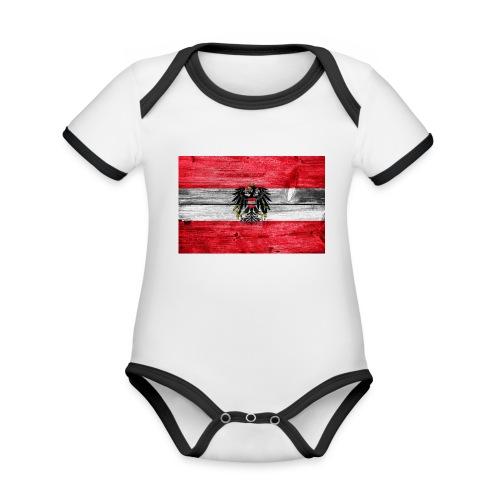 Austria Holz - Baby Bio-Kurzarm-Kontrastbody