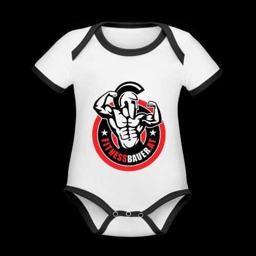 FitnessBauer von Max - Baby Bio-Kurzarm-Kontrastbody