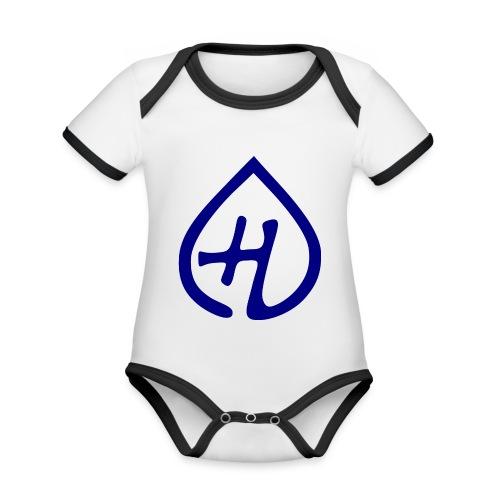 Hangprinter logo - Ekologisk kontrastfärgad kortärmad babybody