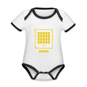 Fortnite Durrrrrrrrrrrrrrrrrr - Organic Baby Contrasting Bodysuit