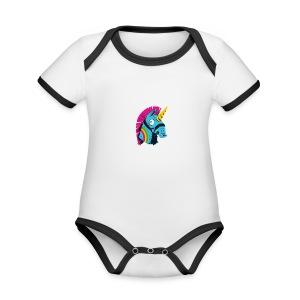 Fortnite Rainbow Smash - Organic Baby Contrasting Bodysuit