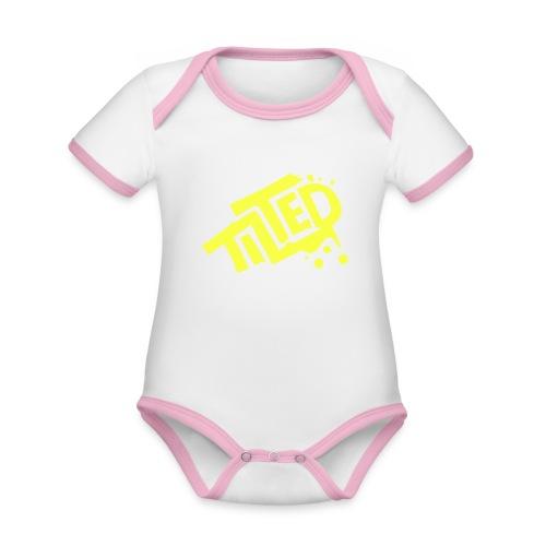 Fortnite Tilted (Yellow Logo) - Organic Baby Contrasting Bodysuit
