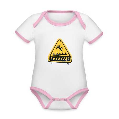 Fortnite Trap Warning - Organic Baby Contrasting Bodysuit