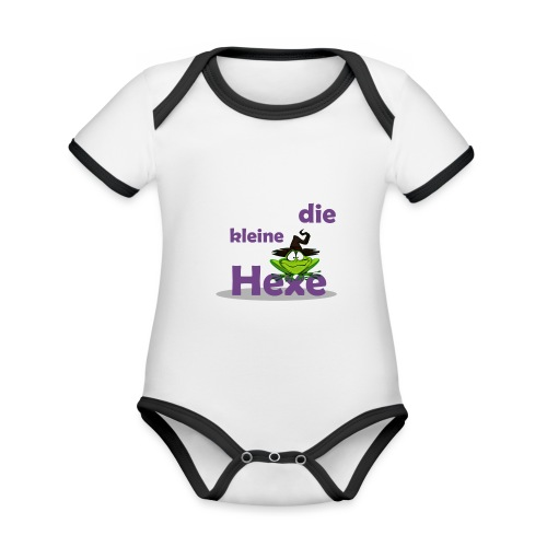 Baby Bio-Langarm-Body Kleine Hexe Wunschname - Baby Bio-Kurzarm-Kontrastbody
