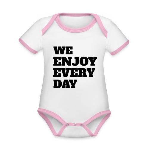 Enjoy - Body Bébé bio contrasté manches courtes