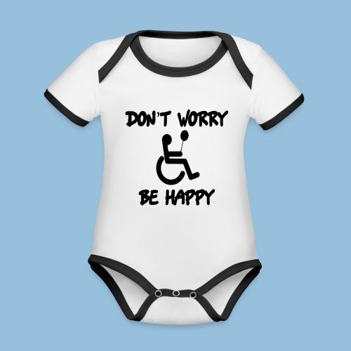 dontworry - Baby contrasterend bio-rompertje met korte mouwen