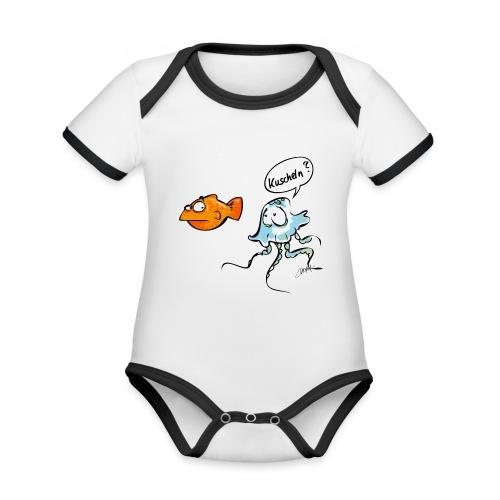 Kuscheln? - Baby Bio-Kurzarm-Kontrastbody