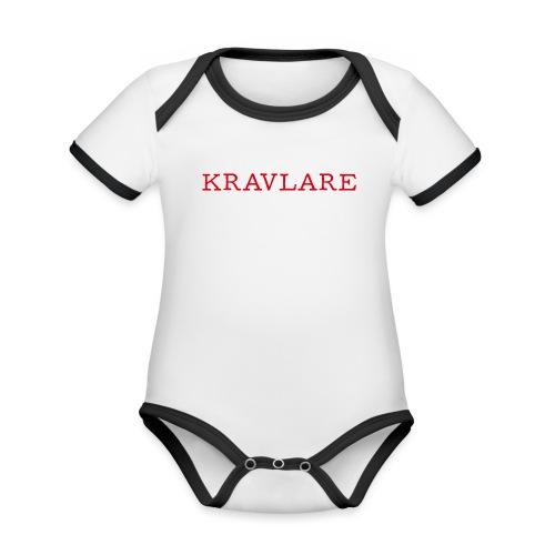 Kravlare - Ekologisk kontrastfärgad kortärmad babybody