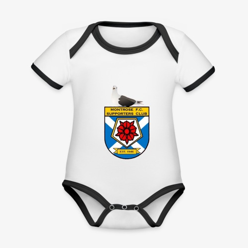 Montrose FC Supporters Club Seagull - Organic Baby Contrasting Bodysuit