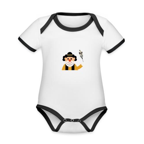 Clown - Baby Bio-Kurzarm-Kontrastbody