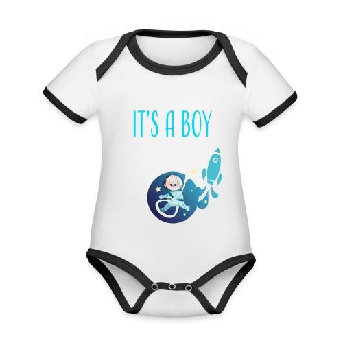 It's a Boy! Witzige süße Umstandsmode T-Shirt - Baby Bio-Kurzarm-Kontrastbody