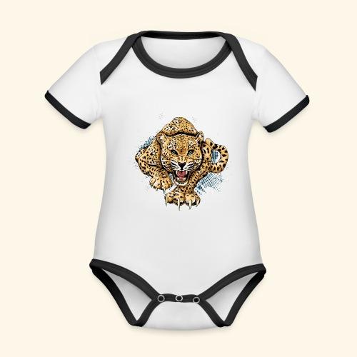 Leopardo KutuXa - Body contraste para bebé de tejido orgánico