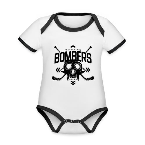 Puistokaari BOMBERS - Vauvan kontrastivärinen, lyhythihainen luomu-body