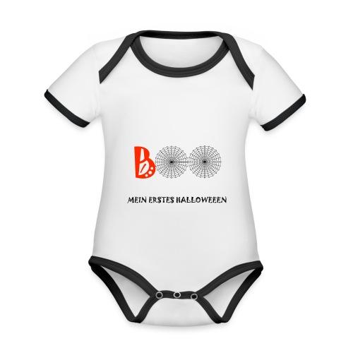 BOO - Baby Bio-Kurzarm-Kontrastbody