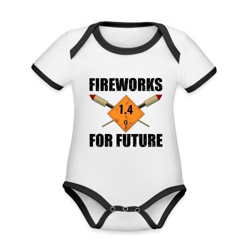 Fireworks for Future Pyro - Baby Bio-Kurzarm-Kontrastbody