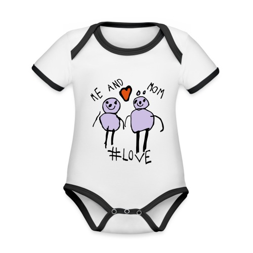 Me and Mom #Love - Organic Baby Contrasting Bodysuit