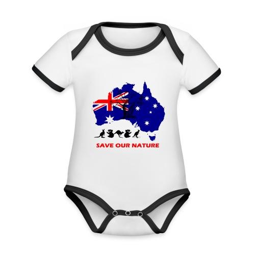 Australien - RETTE LEBEN - JETZT! - Baby Bio-Kurzarm-Kontrastbody