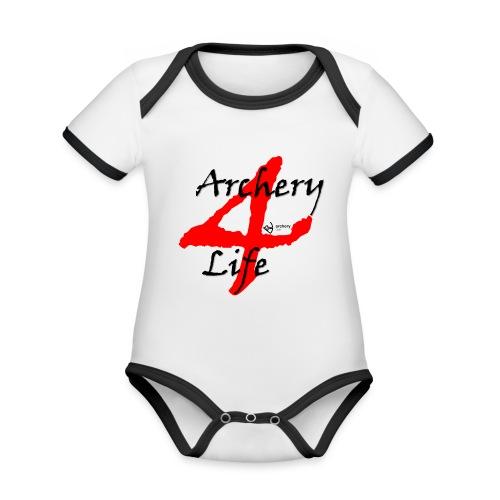 Archery4Life - Baby Bio-Kurzarm-Kontrastbody