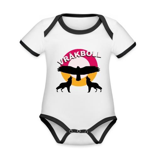 VRÅKBOLL - Ekologisk kontrastfärgad kortärmad babybody