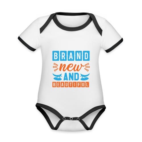 Brand new and Beautiful - Baby Bio-Kurzarm-Kontrastbody