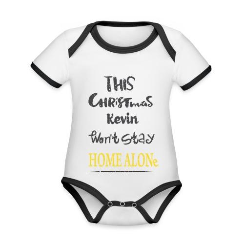 Kevin McCallister Home Alone - Ekologiczne body niemowlęce z krótkim rękawem i kontrastowymi lamówkami