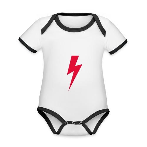 Błyskawica polannd ppro choice women rights - Ekologiczne body niemowlęce z krótkim rękawem i kontrastowymi lamówkami
