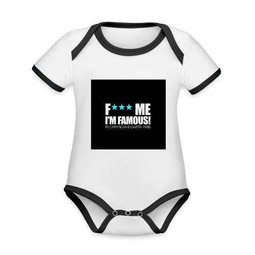 FMIF Badge - Body Bébé bio contrasté manches courtes