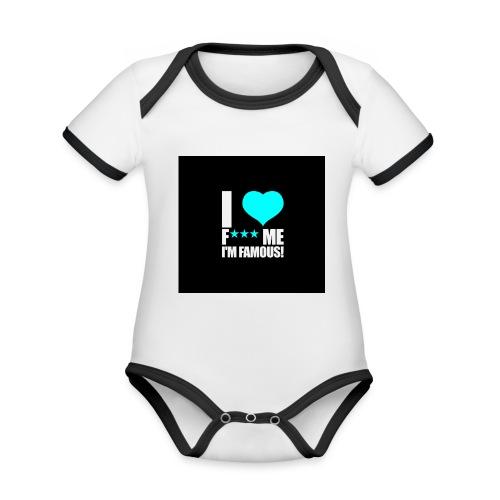 I Love FMIF Badge - Body Bébé bio contrasté manches courtes