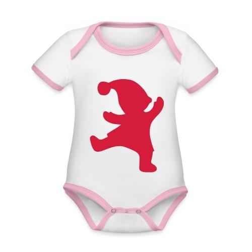 Santas helper - Vauvan kontrastivärinen, lyhythihainen luomu-body