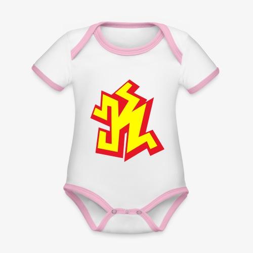 k png - Body Bébé bio contrasté manches courtes