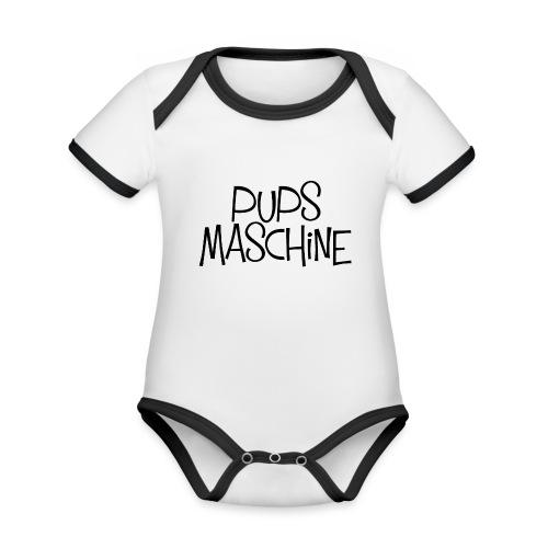 PupsMaschine - Baby Bio-Kurzarm-Kontrastbody