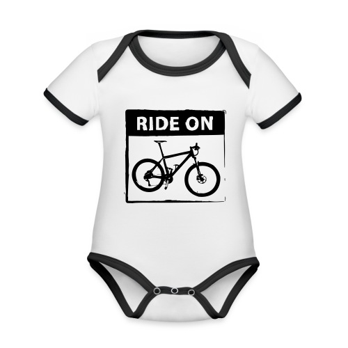 Ride On MTB 1 Color - Baby Bio-Kurzarm-Kontrastbody