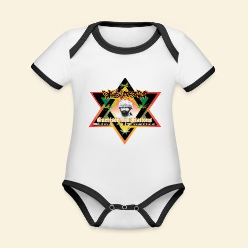 Guerison des nations - Body Bébé bio contrasté manches courtes