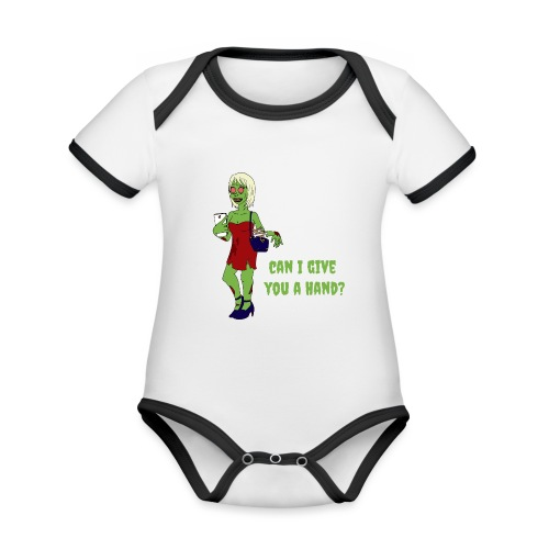 give a hand - Organic Baby Contrasting Bodysuit