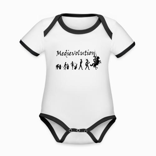Medievolution - Body Bébé bio contrasté manches courtes
