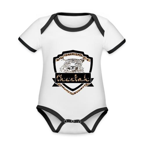 Cheetah Shield - Organic Baby Contrasting Bodysuit