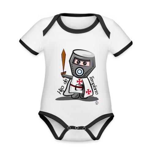 Hijo de templario (Casco) - Body contraste para bebé de tejido orgánico