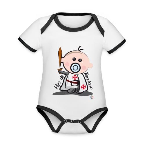 Hijo de templario - Body contraste para bebé de tejido orgánico