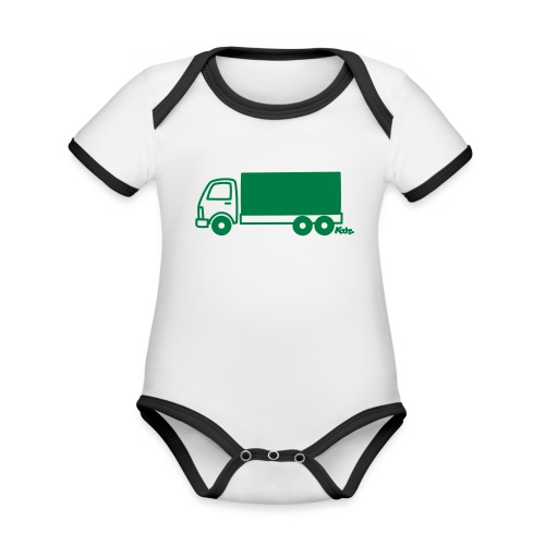 LKW lang - Baby Bio-Kurzarm-Kontrastbody