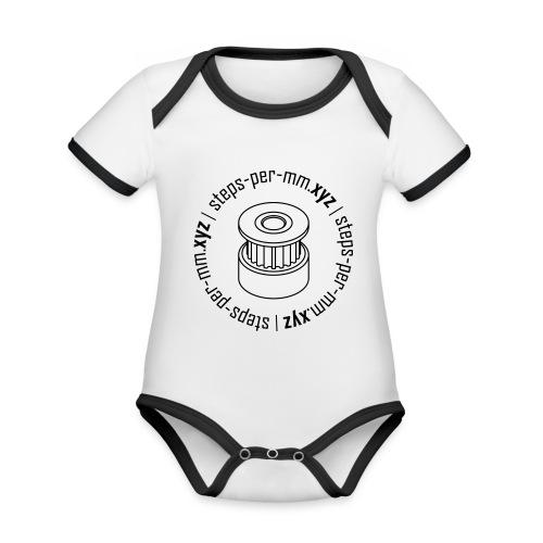 steps-per-mm Round Logo - Organic Baby Contrasting Bodysuit