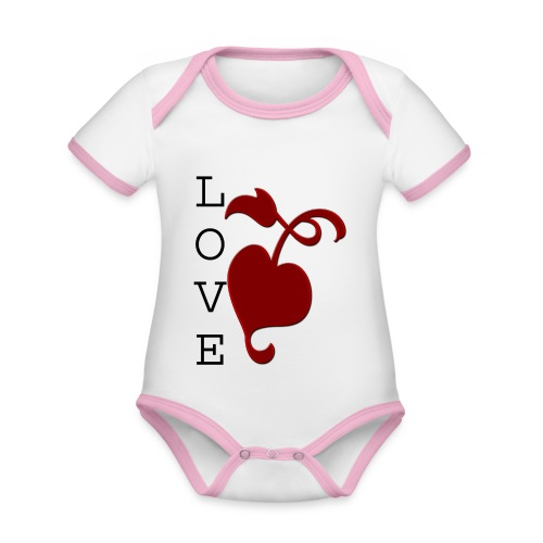 Love Grows - Organic Baby Contrasting Bodysuit