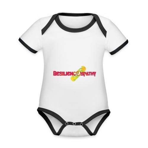Resilincempathy reggae - Body da neonato a manica corta, ecologico e in contrasto cromatico