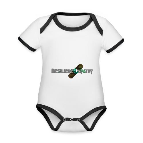 Resiliencempathy green - Body da neonato a manica corta, ecologico e in contrasto cromatico