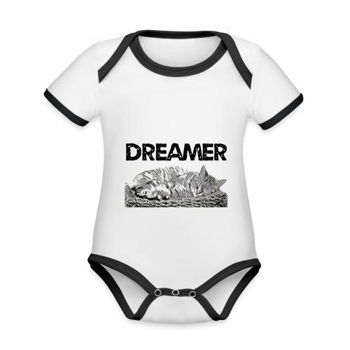 Dreamer - Body da neonato a manica corta, ecologico e in contrasto cromatico