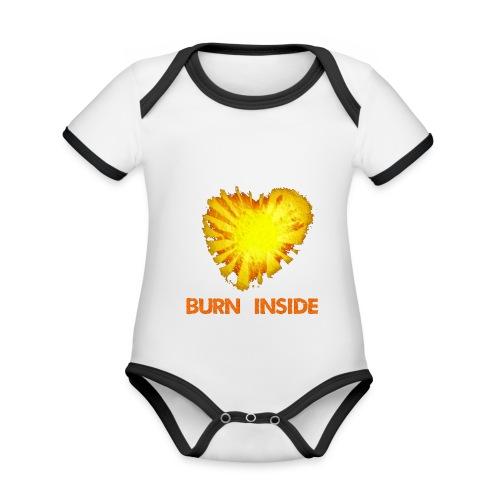 Burn inside - Body da neonato a manica corta, ecologico e in contrasto cromatico