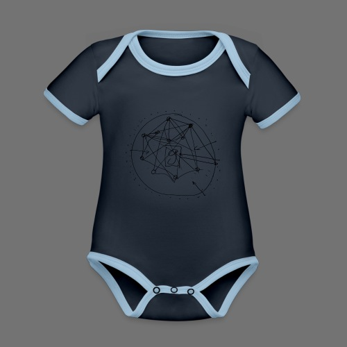 SEO strategia No.1 (musta) - Vauvan kontrastivärinen, lyhythihainen luomu-body
