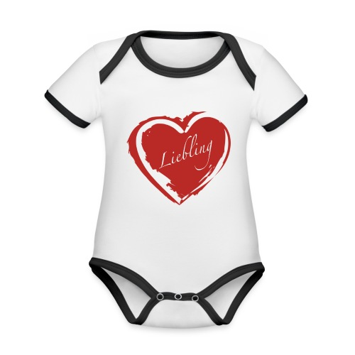 Liebling - Baby Bio-Kurzarm-Kontrastbody