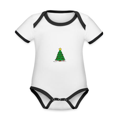 Christmas-Tree - Baby Bio-Kurzarm-Kontrastbody