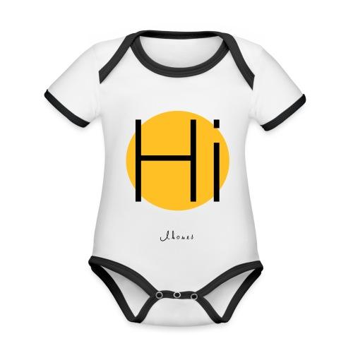 Hi circle - Organic Baby Contrasting Bodysuit