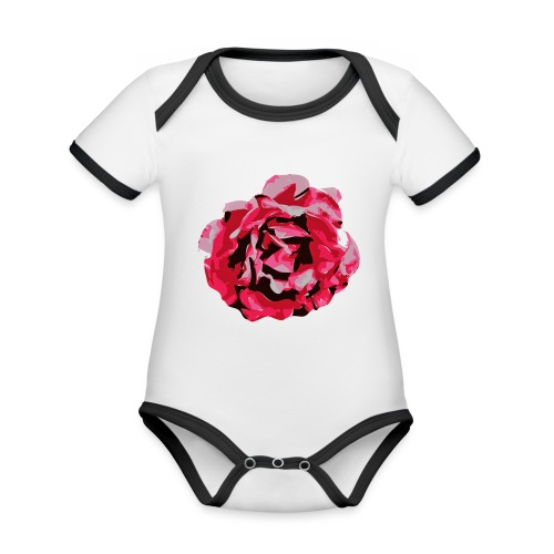 rose - Baby Bio-Kurzarm-Kontrastbody